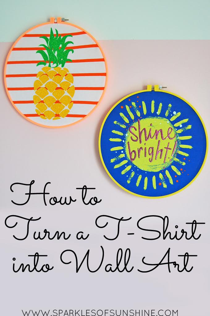 How to Make T-Shirt Wall Art Tutorial