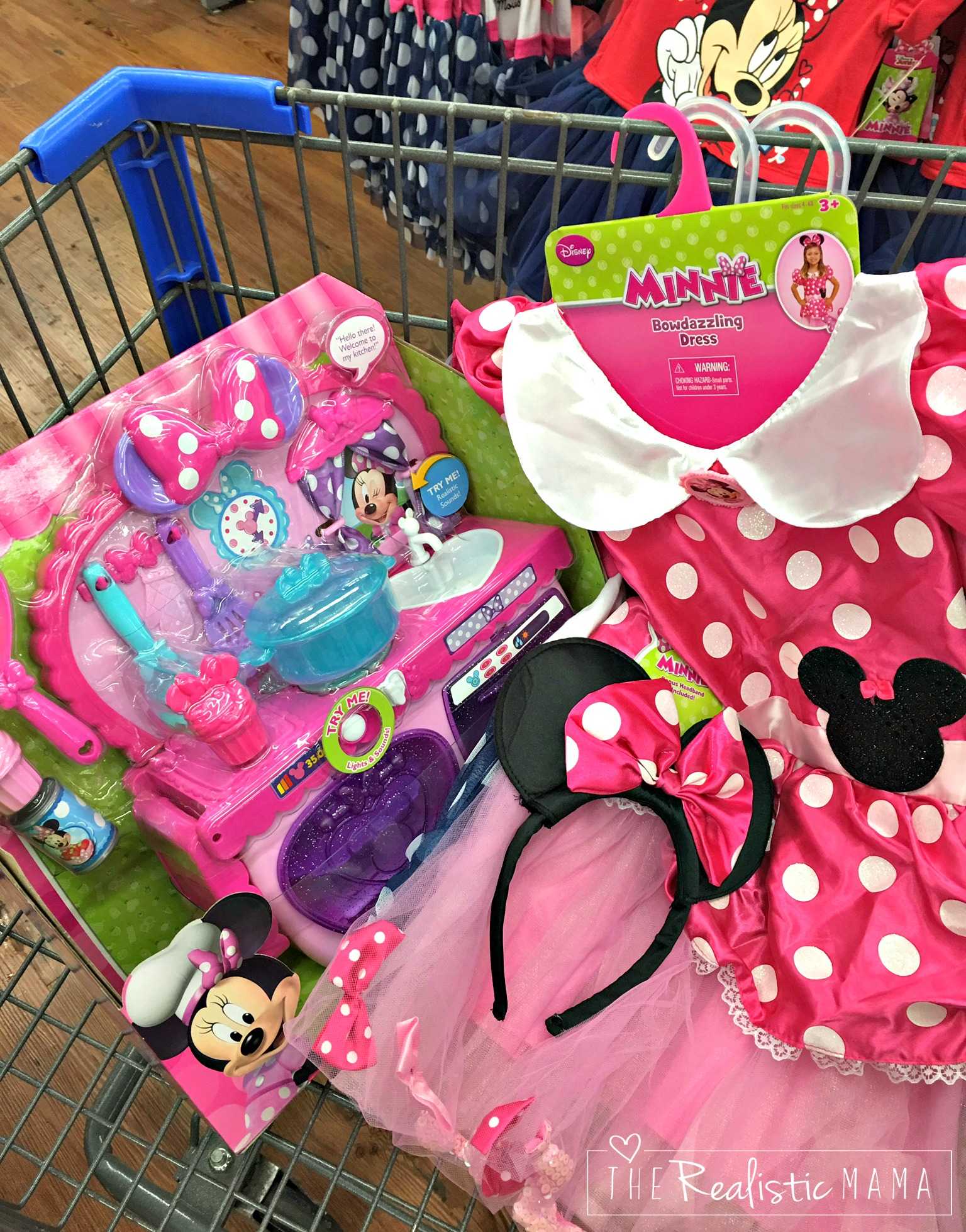 Shopping at Walmart for Disney Jr. Minnie Mouse items