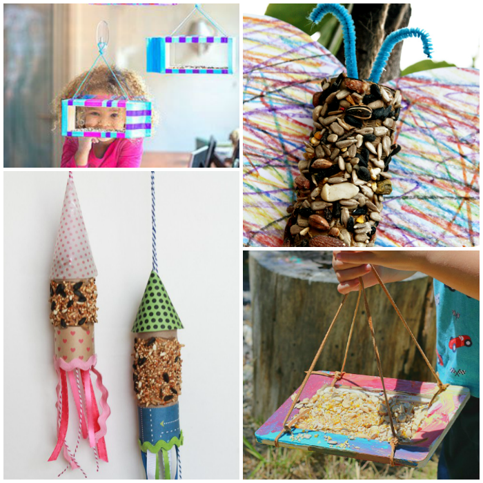12 Kid-Made Bird Feeder Crafts