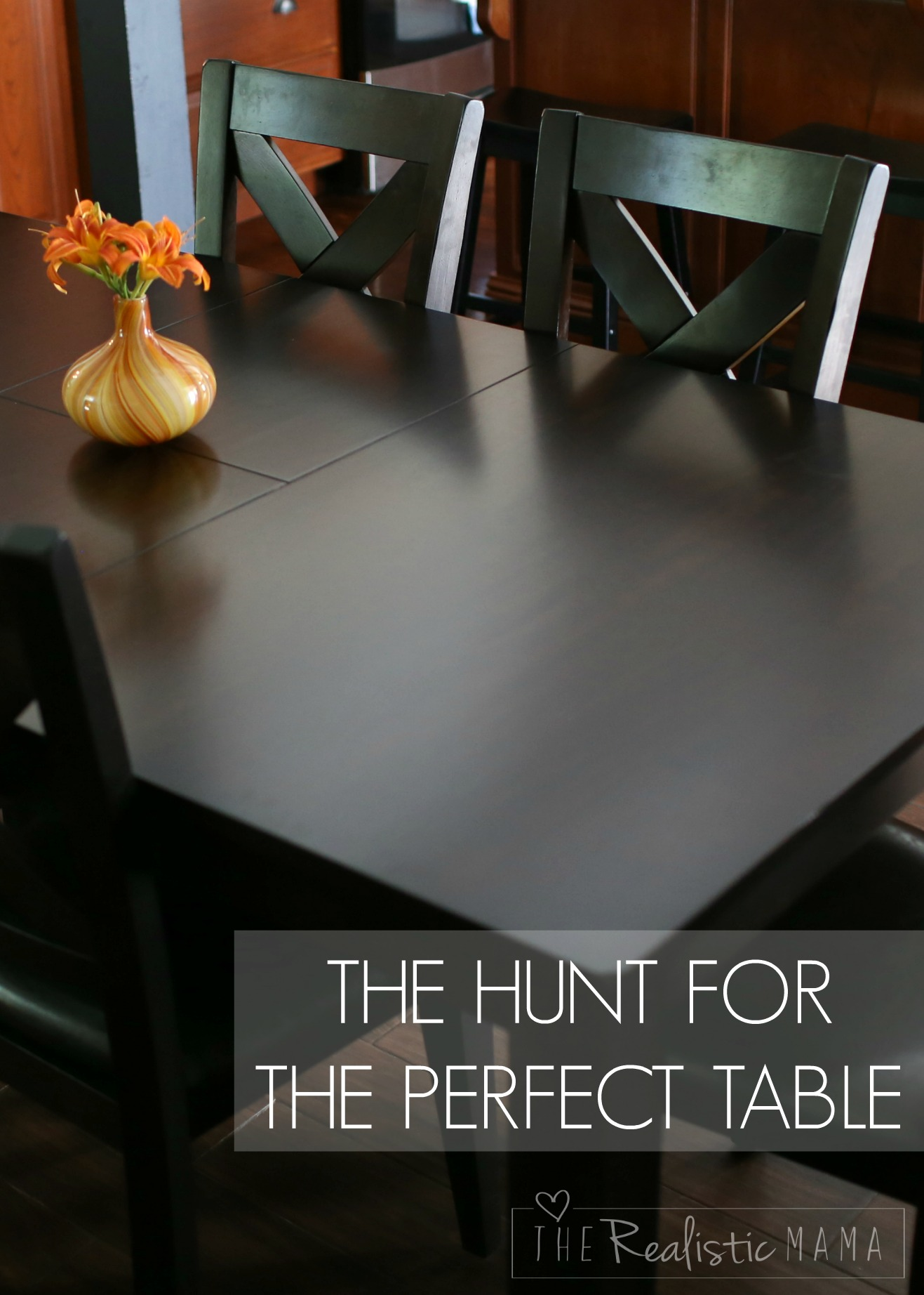 The hunt for the perfect table.