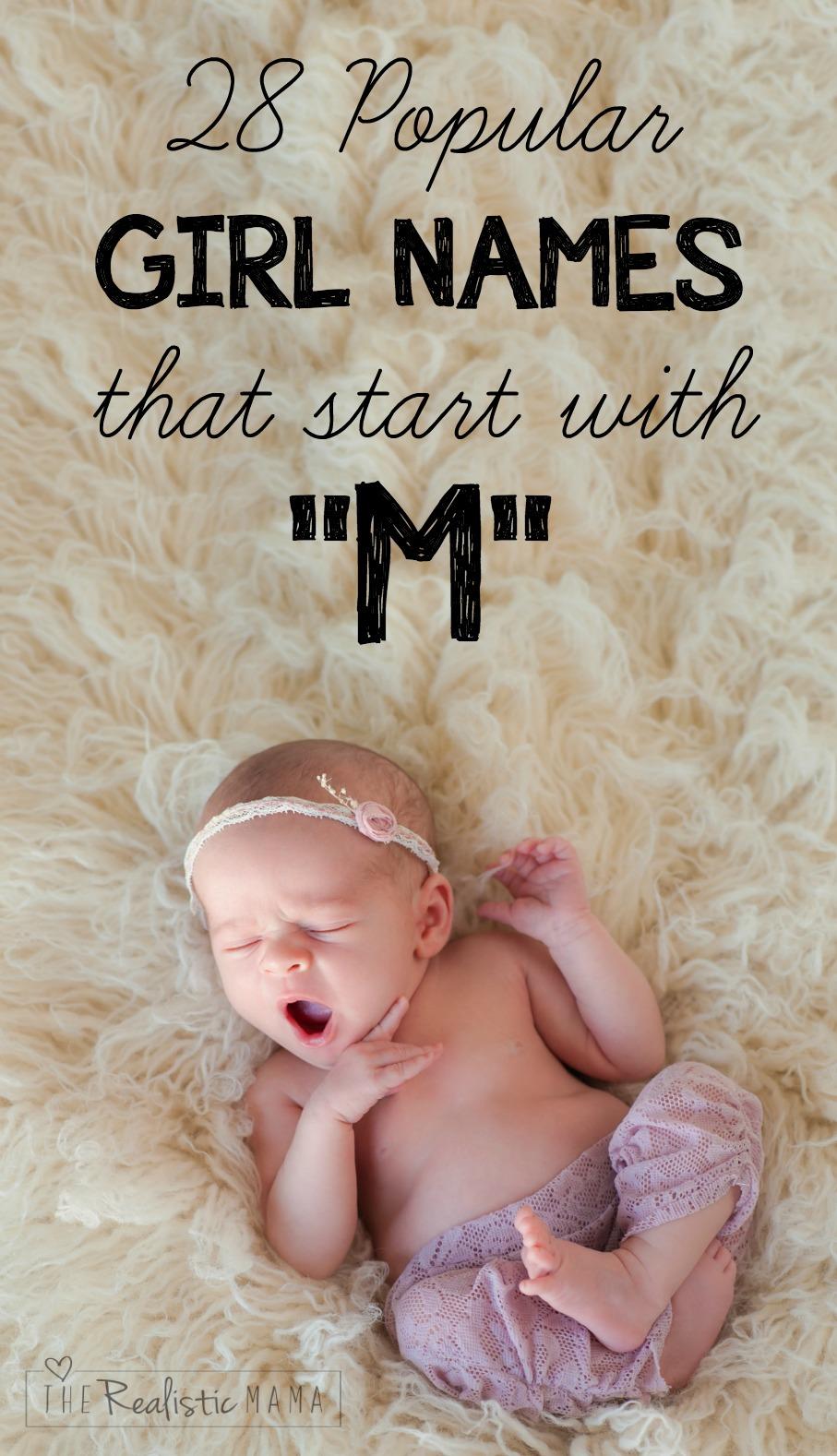 28 Letter M Baby Girl Names