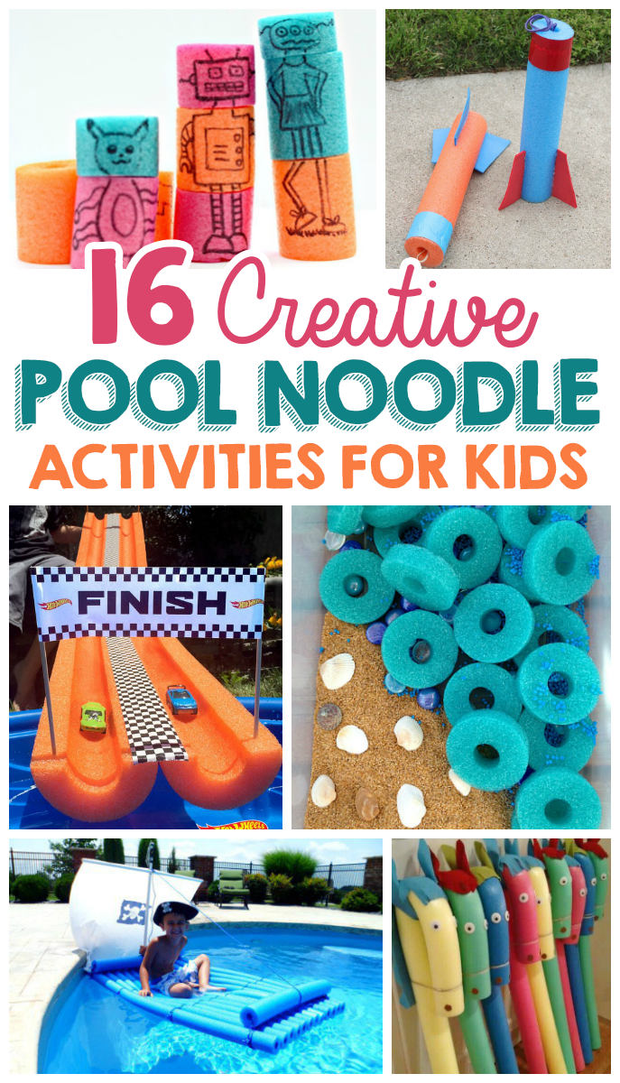 22 Creative Pool Noodle Activities For Kids - The Realistic Mama