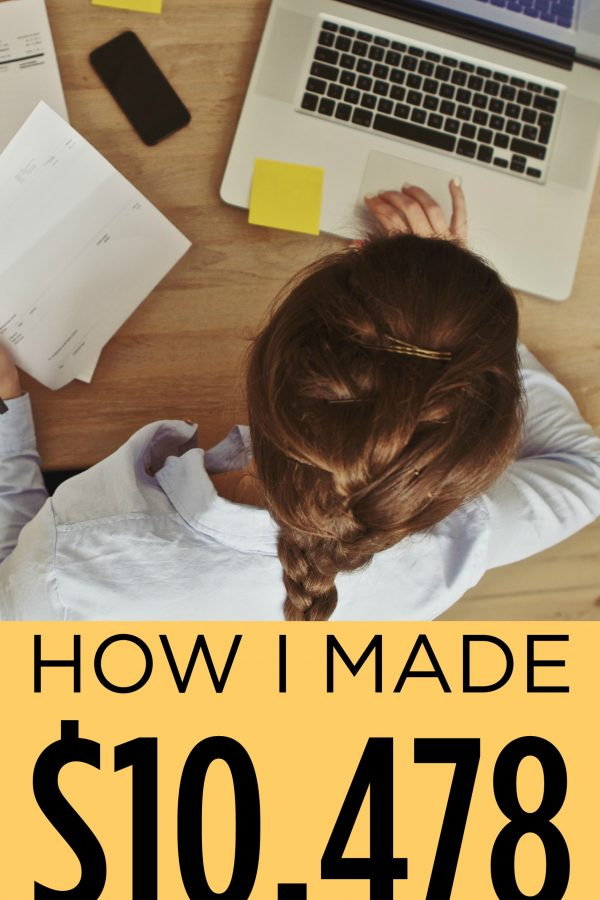 How I made $10,478 blogging in July and how to start your own blog.