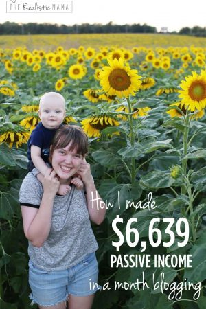 How I made $6,639 passive income in a month blogging