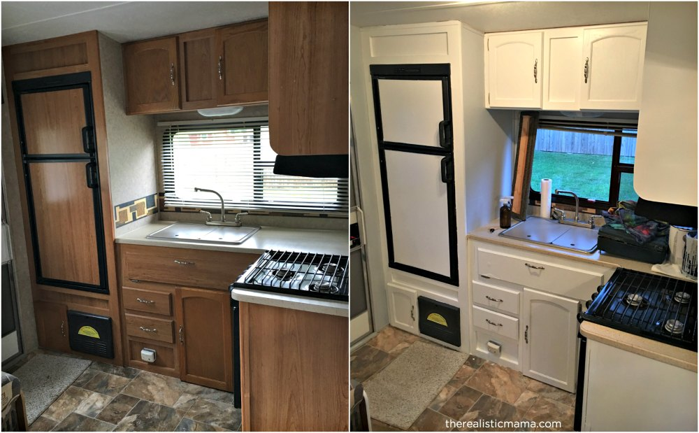 RV Remodel. We Painted The Cabinets ...