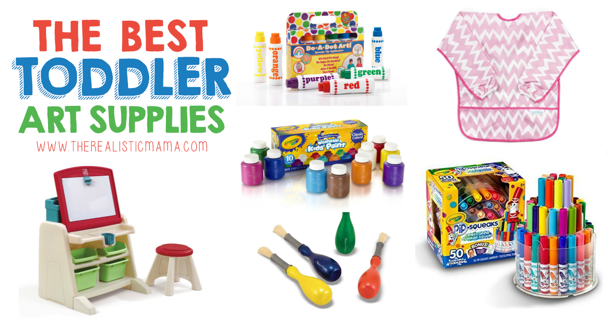 16 Best Art Supplies For Toddlers The Realistic Mama