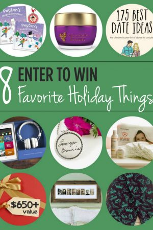 Favorite Things – Holiday Giveaway ($650+ Value)