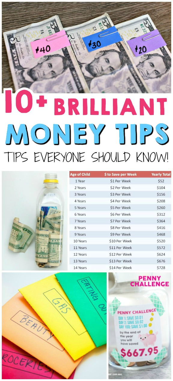 10 Brilliant Money Tips - The Realistic Mama