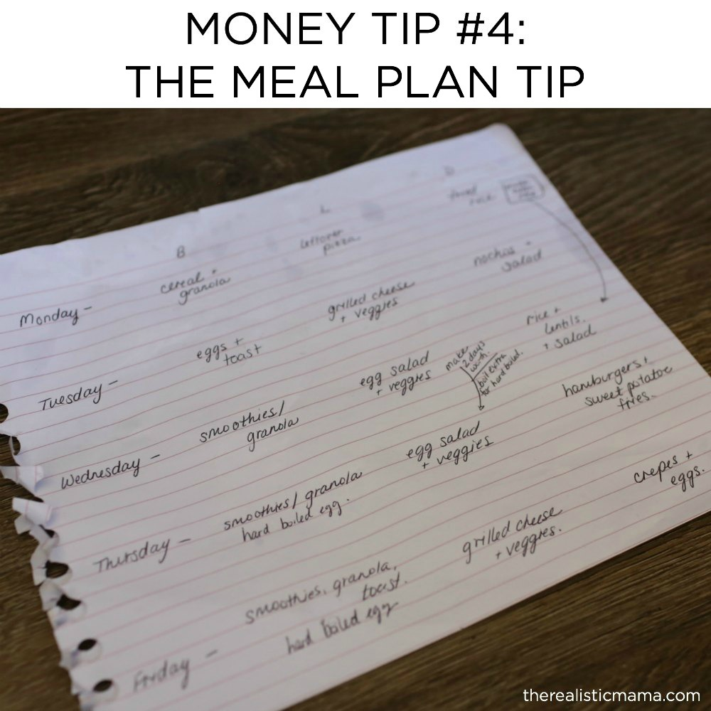 The Best Meal Plan Tip