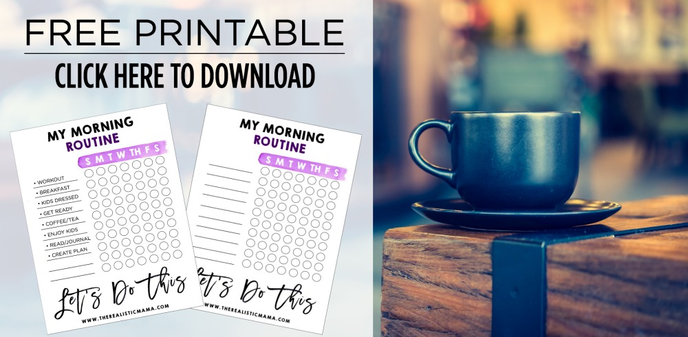 Free Morning Routine Printable