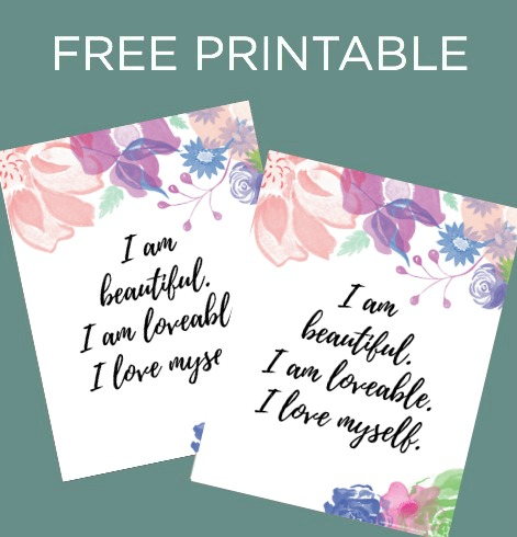 Free Printable_ I am Beautiful