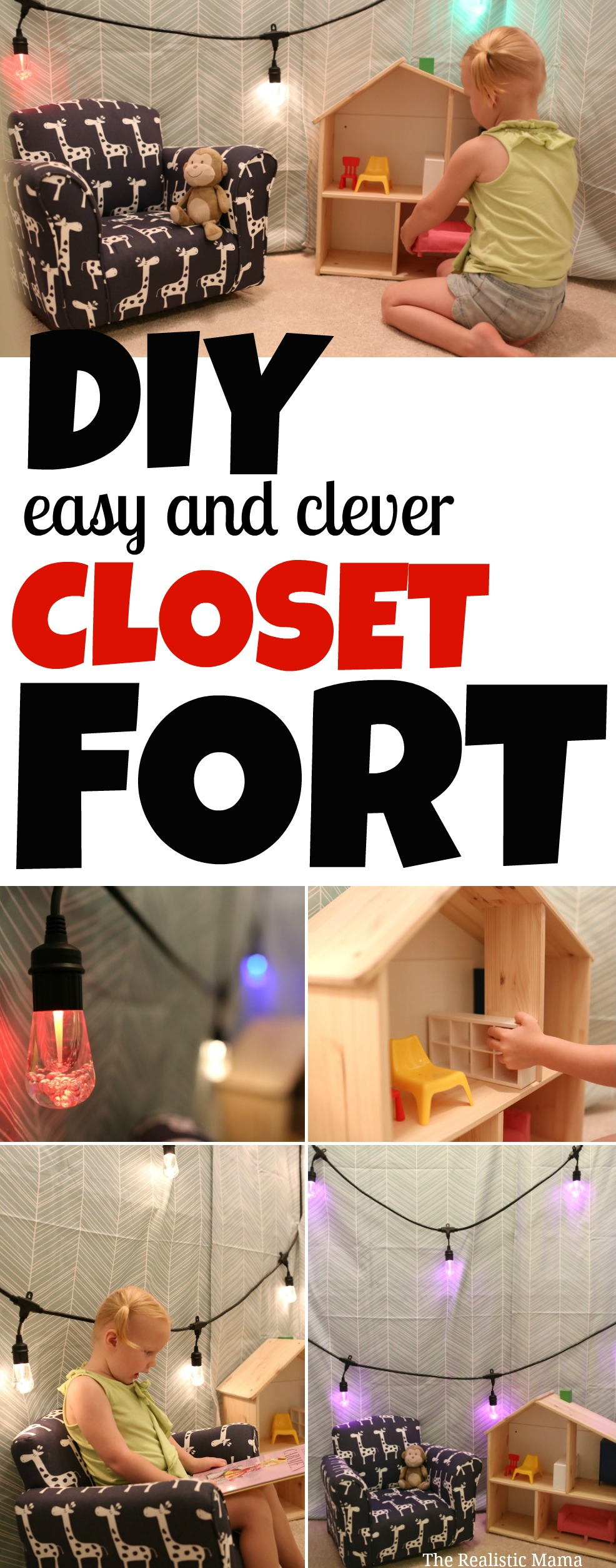 DIY Easy and Clever Closet Fort