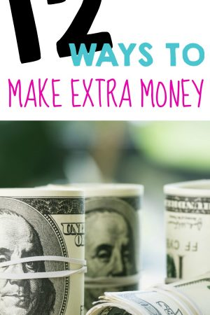 Love this! #1 is totally doable! 12 Ways to Make Extra Money!!