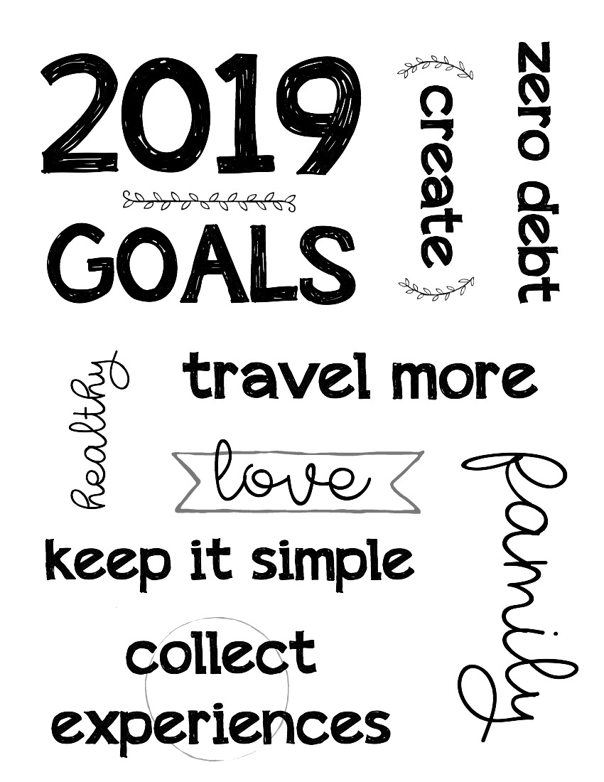 Printable Inspirational Words for Your Vision Board , The