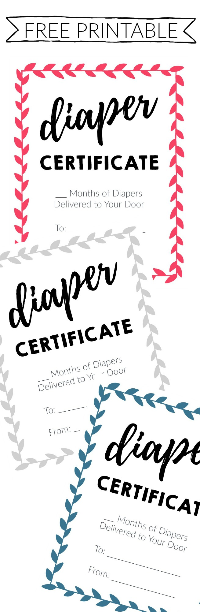 Best Baby Shower Gift Certificate - Free Printable