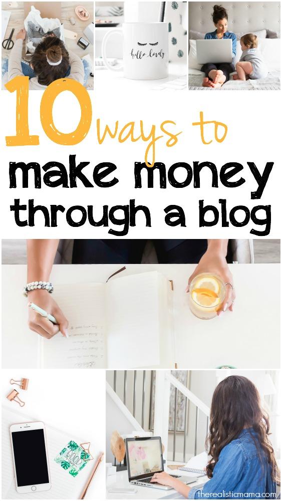 10 Ways to Make Money Through a Blog