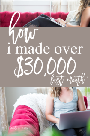 How I made over $30,000 working part-time last month. How to start a blog. How to make money from home.