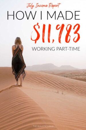 How I made $11,983 last month working part-time from home