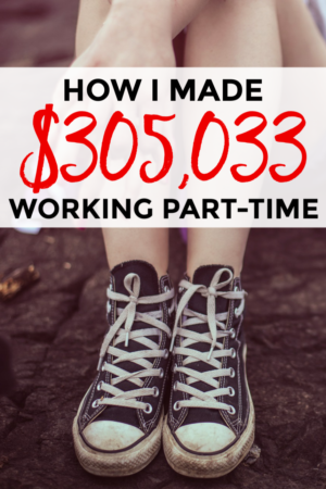 How I made $305,033 working part-time this year