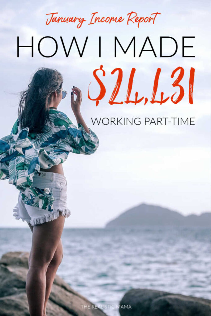 Wow! She made made $24,431 working part-time